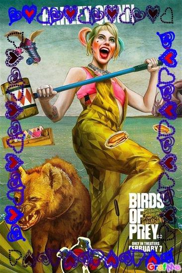 Montage Birds of Prey et la fantabuleuse histoire de Harley Quinn créé par moi