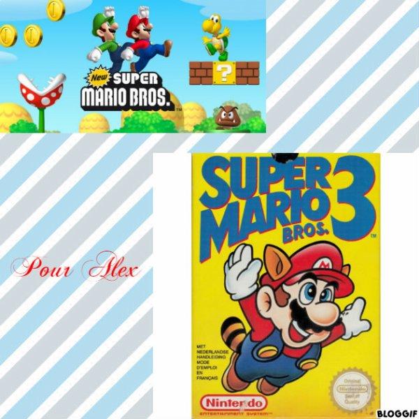 Montage New Super Mario Bros Mario et Luigi et Super Mario Bros 3 Mario créé par moi pour Alex