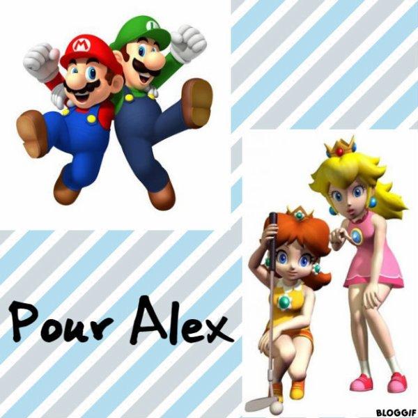 Montage Mario,Luigi,Peach et Daisy créé par moi pour Alex