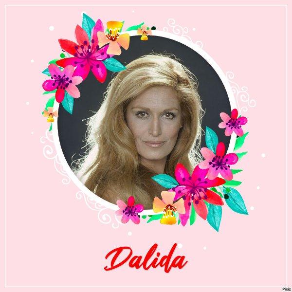 """Paroles de """"Mourir sur scène"""" + montage Pixiz Dalida créé par moi"""