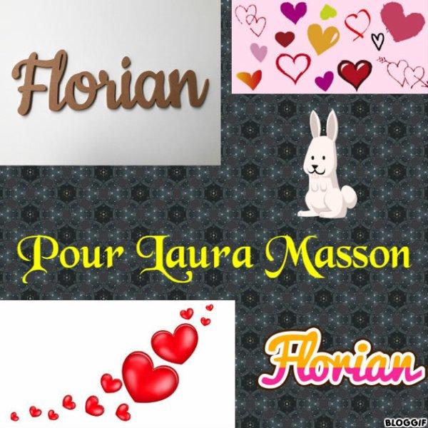 Montage le prénom de Florian et des c½urs créé par moi pour Laura Masson