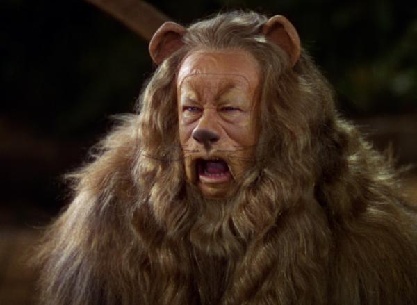 Image Le magicien d'Oz Le lion peureux
