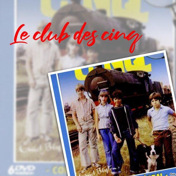 Montage Pixiz Le club des cinq Claude,Annie,Mike,Dagobert et François créé par moi