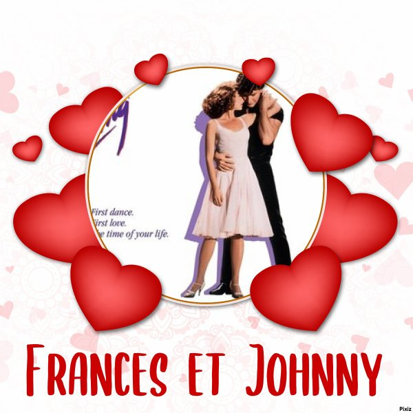 Montage Pixiz Dirty Dancing Frances et Johnny créé par moi