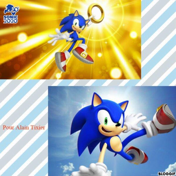 Montage Sonic The Hedgehog créé par moi pour Alain Tixier
