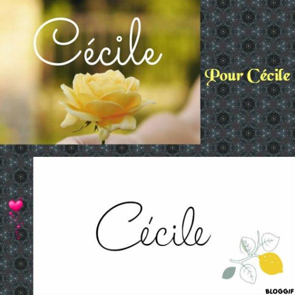 Montage le prénom de Cécile créé par moi pour Cécile