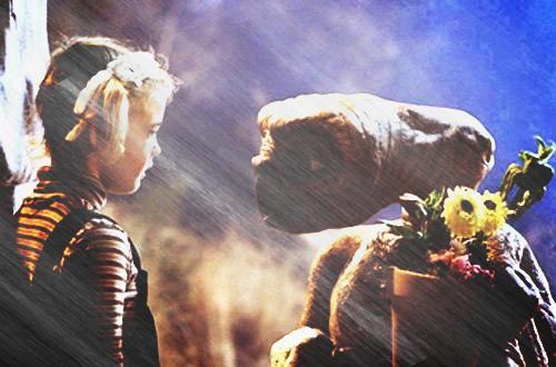 Image retouche E.T l'extra-terrestre E.T et Gertie