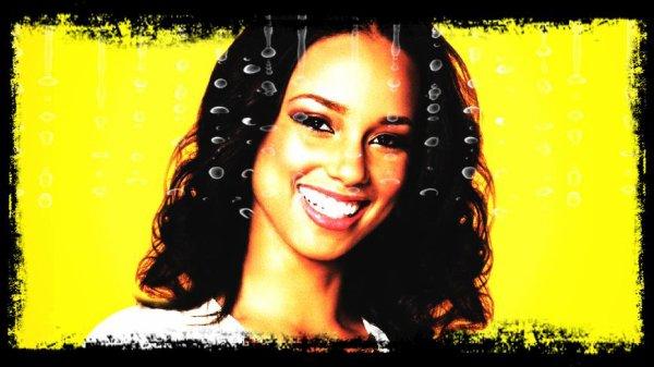 "Paroles de ""Girl on Fire"" + image retouche Alicia Keys"