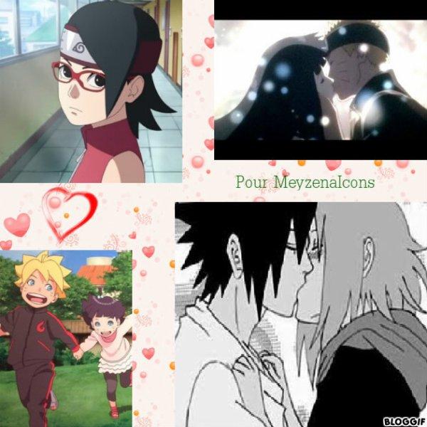Montage Naruto,Hinata,Sakura,Sasuke,Sarada,Boruto et Himawari créé par moi pour MeyzenaIcons