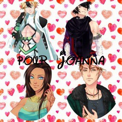 Montage Eldarya Leiftan et Nevra et Amour Sucré Priya et Nathaniel créé par Alex pour Joanna