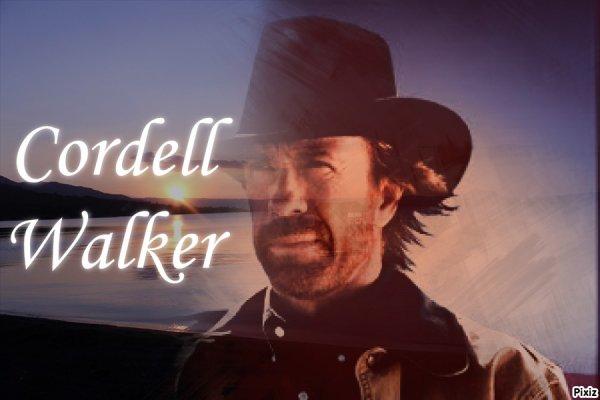 Montage Walker,Texas Ranger Cordell Walker créé par moi