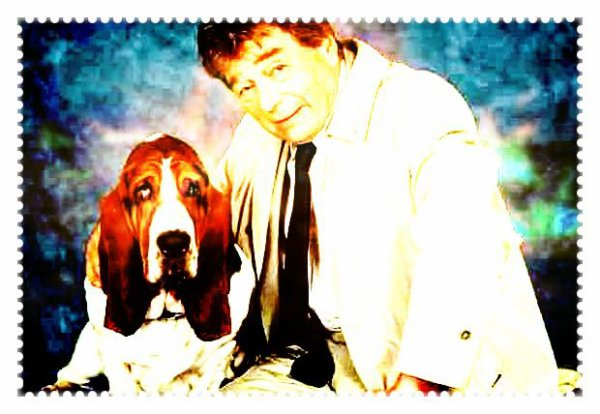 Image retouche Columbo et le chien