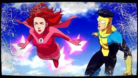 Image retouche Invincible Mark Grayson et Samantha Eve Wilkins