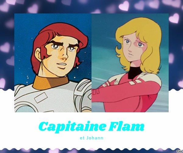 Montage Capitaine Flam et Johann créé par moi