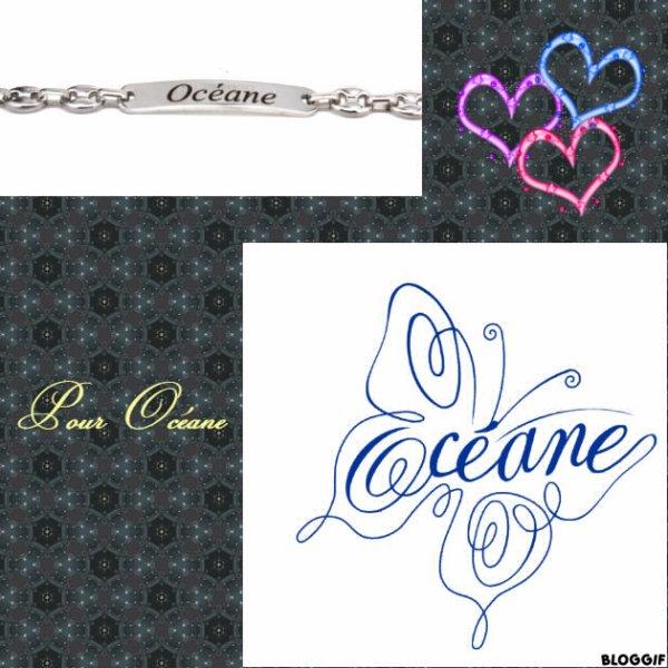 Montage le prénom de Océane créé par moi pour Océane