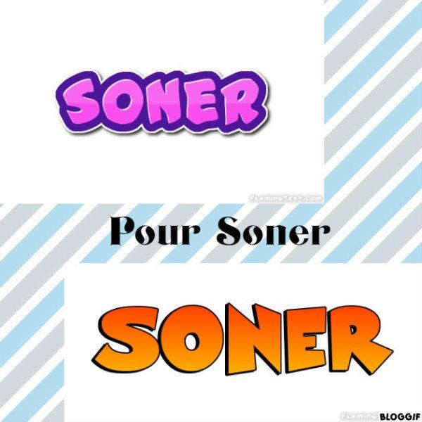 Montage le prénom de Soner créé par moi pour Soner