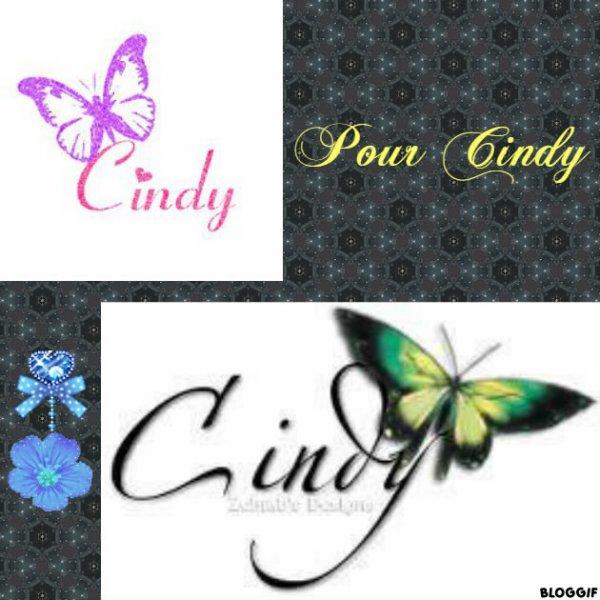 Montage le prénom de Cindy créé par moi pour Cindy
