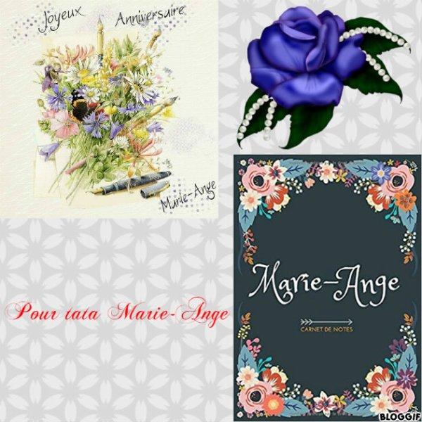 Montage le prénom de Marie-Ange créé par moi pour tata Marie-Ange
