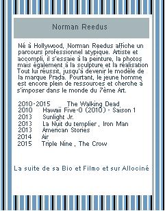 ♦ ♦ ♦ Acteur : Norman Reedus.