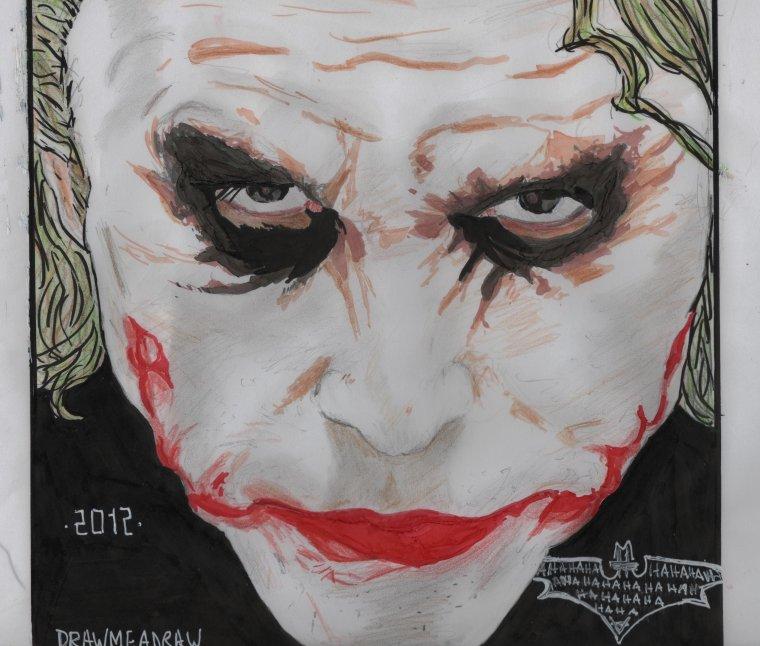 The dark knight the joker dessiner des mangas - Le joker dessin ...