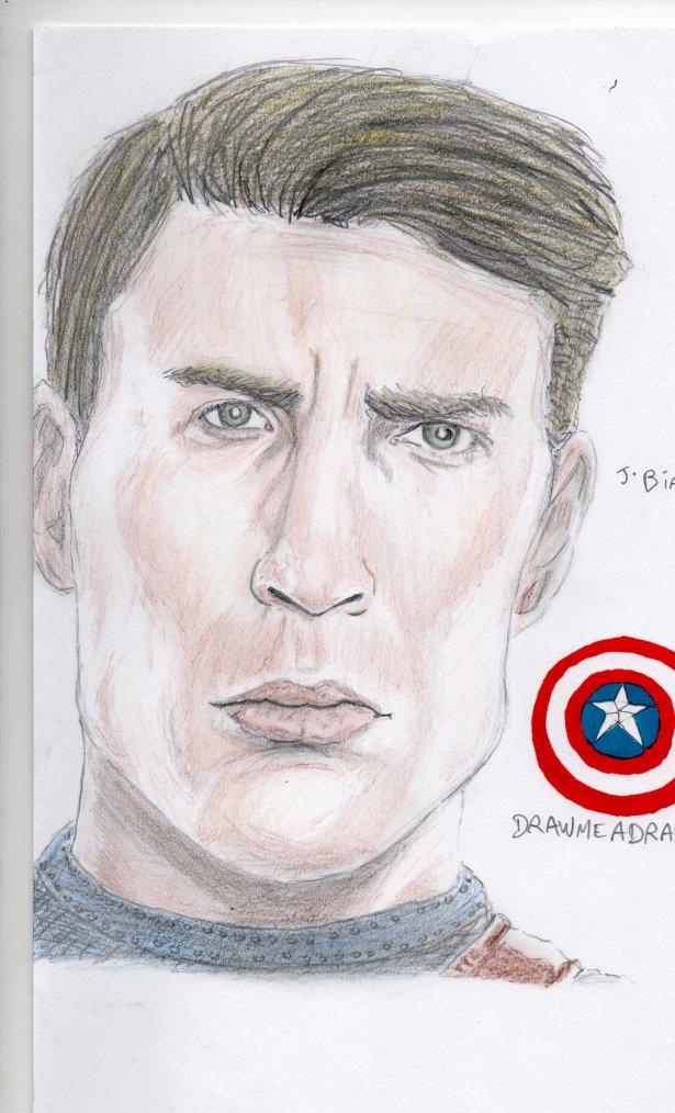 Dessin Thor et Captain America !