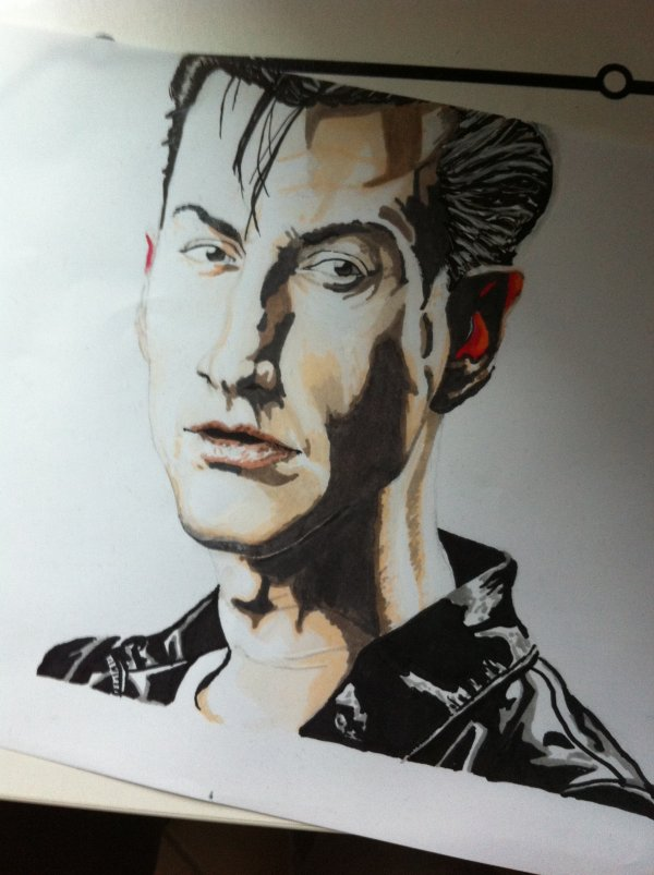 Dessin Arctic Monkeys (Alex Turner)