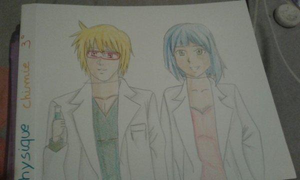 Scientifique et chimiste manga