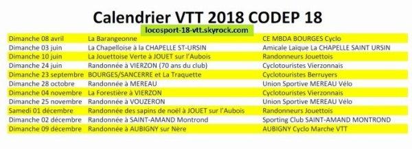 Calendriers VTT 2018