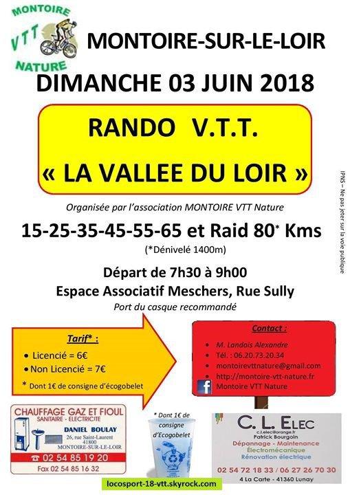 Rando VTT Montoir sur le loir (41)