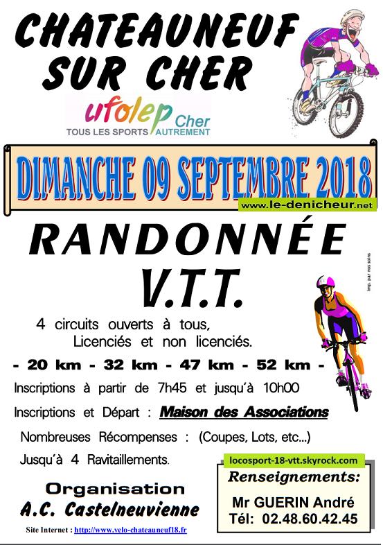 Rando VTT Chateauneuf / Cher