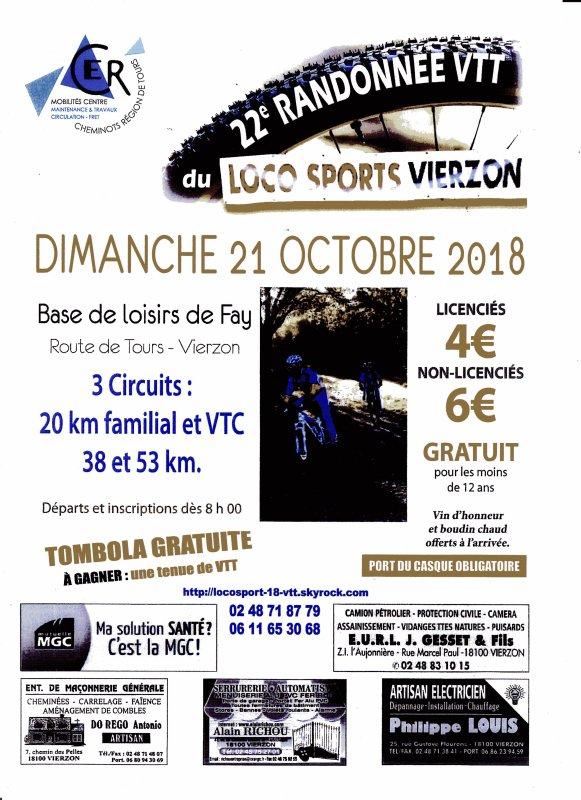 Rando VTT Loco sport Vierzon