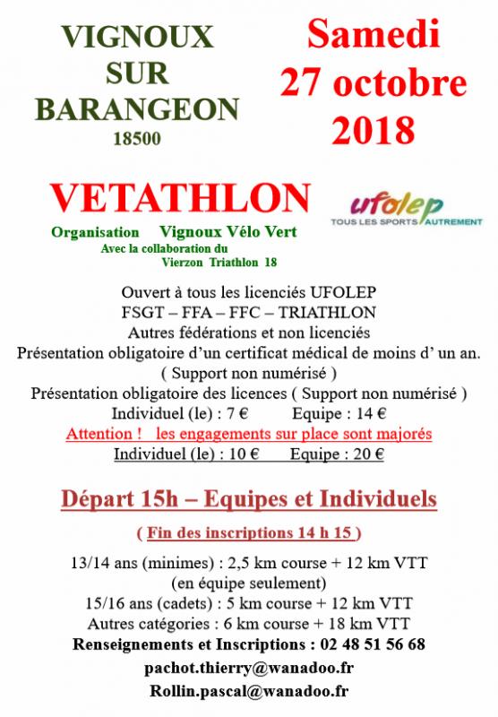Vétathlon Vignoux sur Barangeon