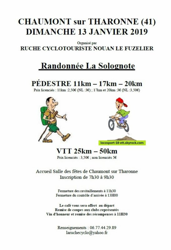 Rando VTT Chaumont sur Tharonne (41)