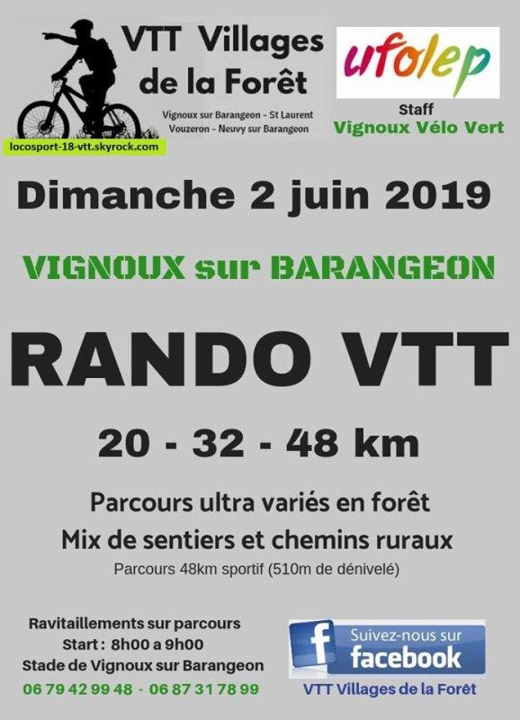 Rando VTT Vignoux / Barangeon