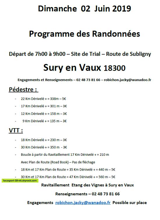 Rando VTT Sury En Vaux
