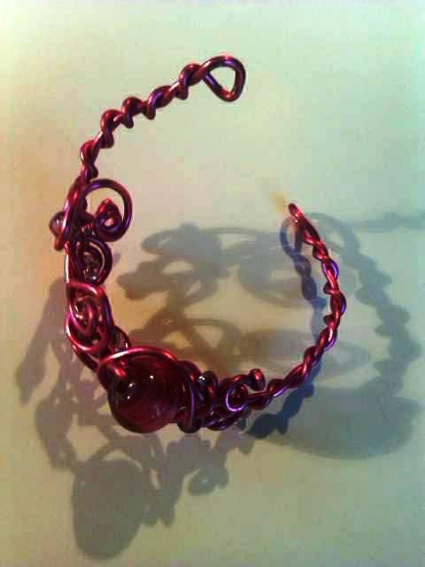 bracelet rose avec perles