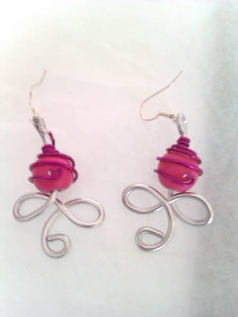 boucles d'oreilles lutin rose 9