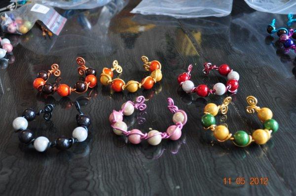 bracelet perles et alu 3