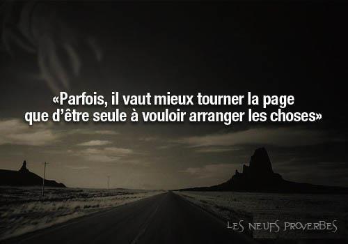 "Tourner ""la page"" !!"