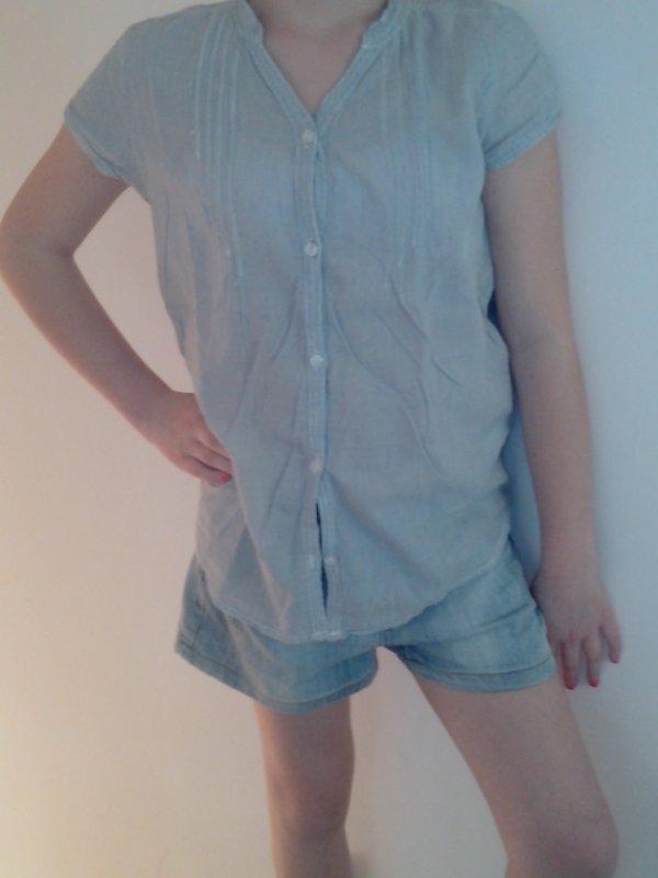 chemise et short en jean