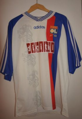 maillot lyon 1997 - 1998  europe digital