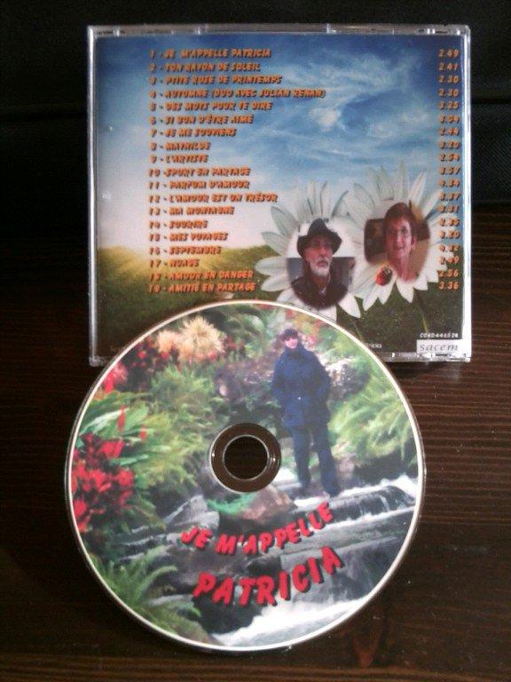 """Mon CD """"Je m'appelle Patricia"""" vient de sortir"""