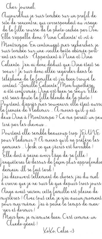 Calie 9# Le mystère Caliente (Partie 6)