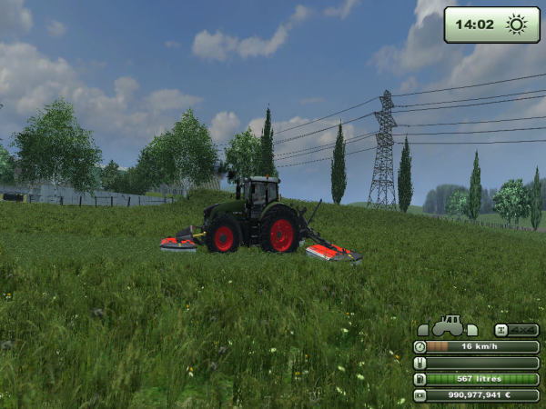 Fauchage d'herbe