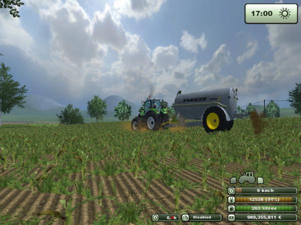 Epandage de lisier - Farming Simulator 2013.