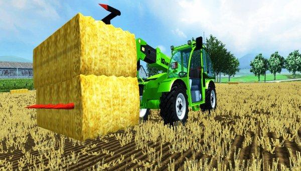 Farming simulator 2013, ramassage des bottes de paille