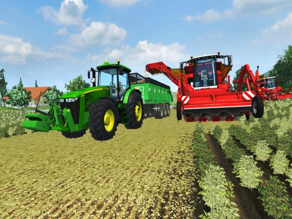 Arrachage de pomme de terre - Farming Simulator 2013