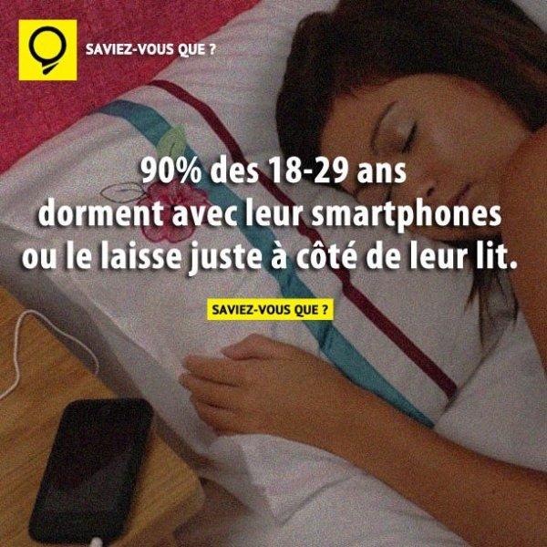 dormir avec le smartphones