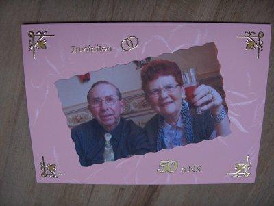 Invitation pour les 50 ans de mariage