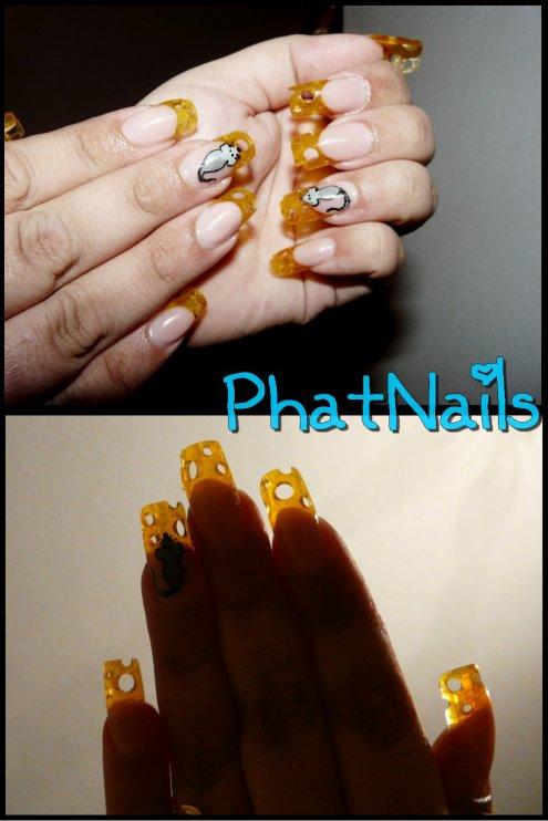 cheesy nailz ^^ ©
